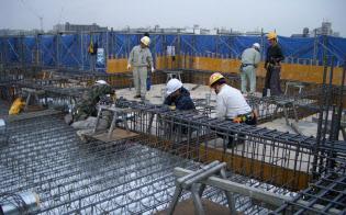 建設現場では人手不足が深刻になっている