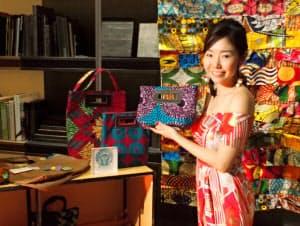 仲本千津・代表取締役 15年2月、ウガンダに駐在中、シングルマザーたちと会い、バッグの製造を始める。同年8月、日本法人を設立、大手百貨店で販売。16年7月、現地法人と直営店舗をカンパラ市に開設