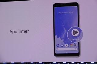 米グーグルが開発者向け年次会議「I/O」で発表した次期アンドロイド「P」。アプリの使用時間を制限する「アップタイマー」が搭載される