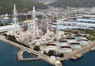 最近は原油価格が高騰している(海南発電所、和歌山県海南市)
