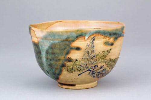 野々村仁清「色絵忍草文茶碗」(江戸時代)