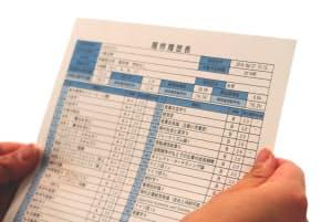 大学で何をどう学んだかを、企業が選考時の評価に活用する(写真は履修履歴表のイメージ)