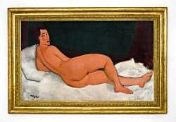 14日、ニューヨークのサザビーズで落札されたモディリアニの絵画(サザビーズ提供)=共同