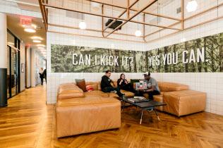 米ウィーワークのニューヨーク市内のオフィス