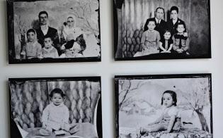 「ベイト・ベイルート」の館内に展示された古い家族写真