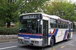 傘下のバス会社とはビジョンを共有する(茨城交通のバス)