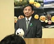 記者会見する和歌山県の仁坂吉伸知事