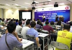 三谷産業はベトナムで研修サービスの事業化を検討する(1回目の研修の様子)
