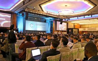 14~16日にニューヨークで開催された仮想通貨イベント「コンセンサス」には多くの人が参加した