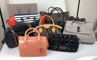 全国の会員から届いたかばんは補修やクリーニング後に商品リストに加えられる(ラクサス・テクノロジーズ)