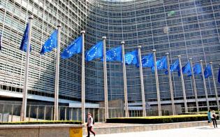 個人情報の保護に敏感なEU。日本への懸念はまだあるか(欧州委員会本部)=共同