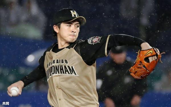 上沢は「力感のないところから、ぴゅっとボールがいくのが僕の持ち味」という=共同