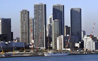 タワーマンションが林立する東京都中央区