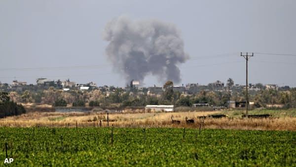 イスラエル軍、ガザの過激派拠点を空爆 衝突拡大の懸念