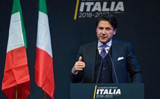 イタリアの次期首相となるコンテ氏=ANSA・AP
