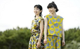 アフリカンプリントの生地を使ったSAWASAWAの服。鮮やかな色合いが特徴