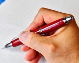 児童の保護者からプレゼントされた万年筆