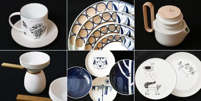 台湾やイギリス、オーストラリアなど世界各国のデザイナーらと共同開発した皿やコーヒーカップ