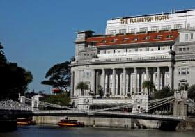米朝会談時、北朝鮮側の宿泊先になる可能性があるシンガポールの「フラトン・ホテル・シンガポール」=ロイター