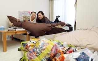 民泊は訪日外国人を中心に利用者が増えている(17年3月、東京・大田)