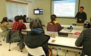 独自の学位プログラム「筑波スタンダード」は学生本位の学びを提供(写真は専門科目の授業風景)