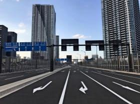 環2は築地市場周辺をのぞき、ほぼ完成している(東京都中央区)