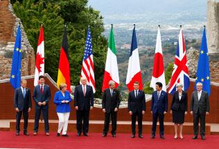 G7サミットは米貿易政策巡り紛糾必至だ(2017年の前回会合)=ロイター