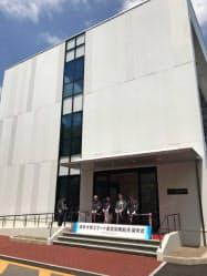 デンソーなど10社と新しい金型を開発する(7日、岐阜市の岐阜大学構内)