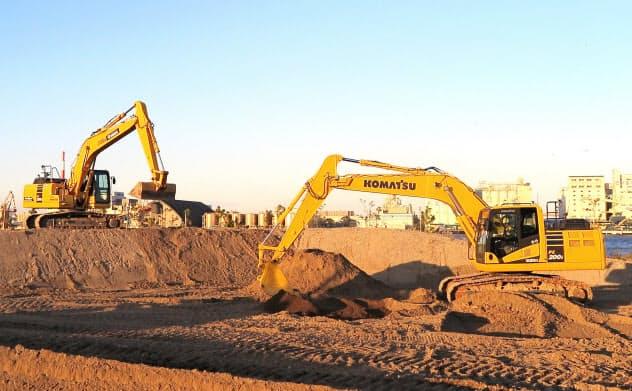コマツは工事現場を自動化する「スマートコンストラクション」に力を入れている