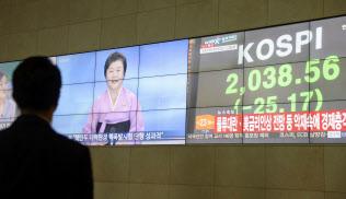 北朝鮮による核実験でも、韓国の株価指数は小幅な下落にとどまった(9日、ソウル市内)=共同
