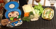 岐阜県中津川市と健康作りのために作ったレシピを活用したサンドイッチ「けんぱちくんサンド」