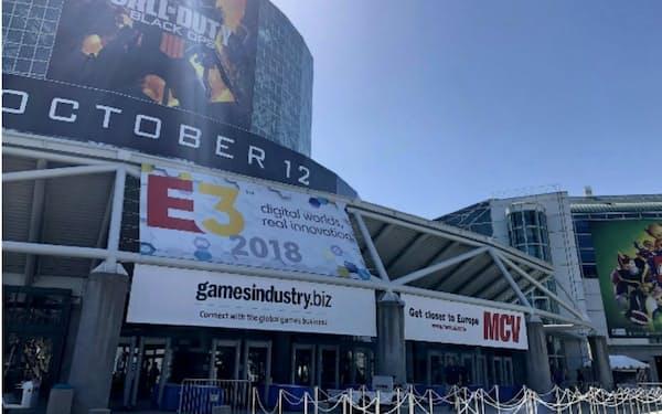 「E3」の会場付近はゲーム一色に(10日、ロサンゼルス)