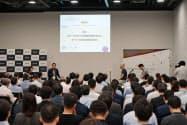 8日の「ジャパンオープンイノーションフェス」には、多くのスタートアップや大企業の新規事業担当者らが参加した