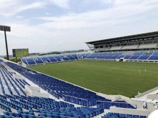 試合当日は約2万6000人の観客が訪れる見通しだ(埼玉県熊谷市の県営熊谷ラグビー場)