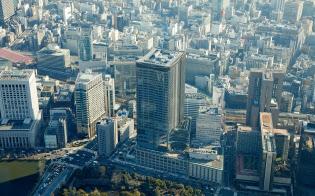 再開発で大型のオフィスビルが続々とできている