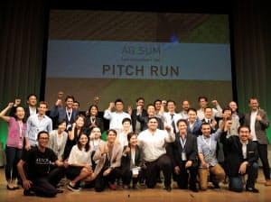 世界10カ国の参加企業のなかから7社が受賞した(12日、東京・中央)