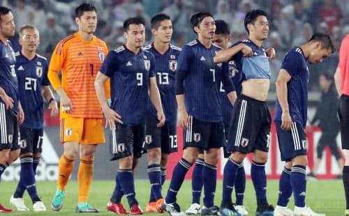 ガーナに敗れ肩を落とす日本代表イレブン(5月30日)
