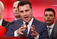 マケドニアのザエフ首相(12日)=ロイター