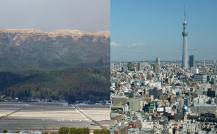 「迷子の土地」の急増は経済活動に悪影響を及ぼしている(写真左は熊本県阿蘇市、右は東京都)