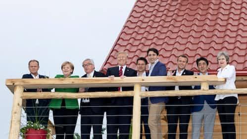 トランプ氏、G7首脳との不仲説「フェイクニュースだ」