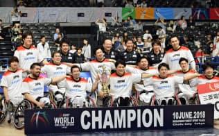 MWCCで初優勝を果たした男子日本代表