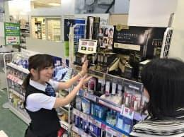 シワ改善化粧品には各社が相次ぎ参入している(昨年撮影、東京都内)