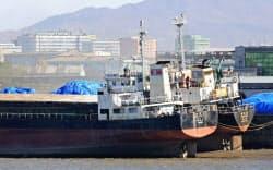 遼寧省丹東の港湾会社も債務不履行に陥っている(小高顕撮影)