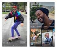 インスタグラムの縦長動画を配信する新サービス「IGTV」の画面