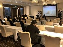 エクスペディアのセミナーには北陸のホテル関係者ら約30人が参加(21日、金沢市)