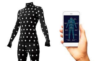 スマートフォンで撮影し、体形を計測できる新ゾゾスーツ