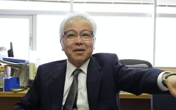 京都大学で産官学連携を担当する阿曽沼慎司理事