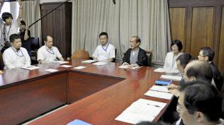 「ヤミ民泊」への対策の連絡協議会の初会合(25日午前、京都市)=共同