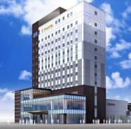 JR旭川駅前で開業するワイズホテル旭川駅前(完成予想図)