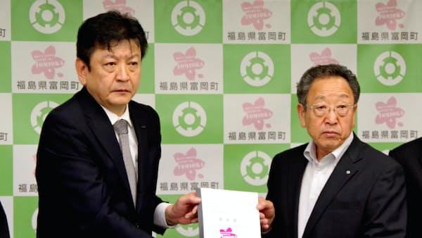 福島第2原発の廃炉方針、東電社長が立地2町に説明